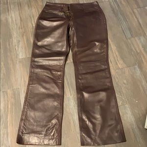 Banana republic brown leather pants